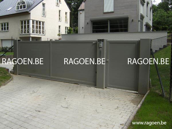 Ragoen portails portails en acier - Portail de garage coulissant sur rail ...