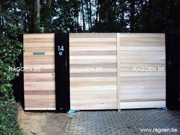 Portail en bois belgique for Barriere de jardin belgique