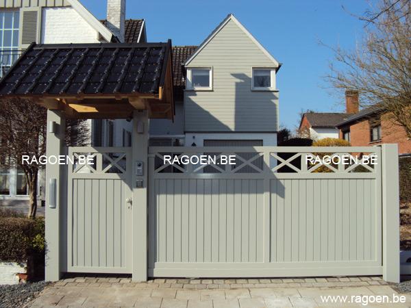 Portail et portillon en acier et bois clotures et portails ragoen - Portail et portillon ...