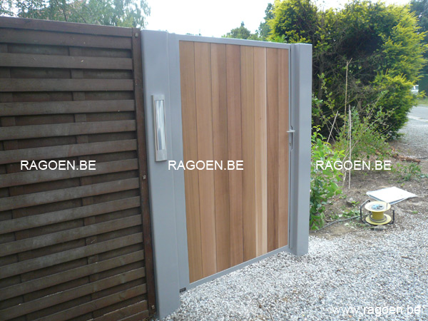 Portillon de jardin en bois for Portillon jardin metal