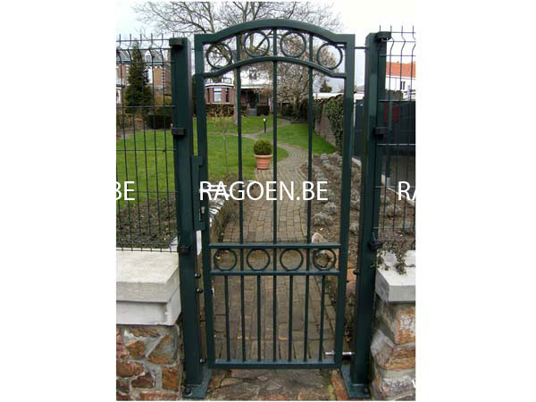 Portillon fer forg clotures et portails ragoen for Portillon de jardin en fer forge